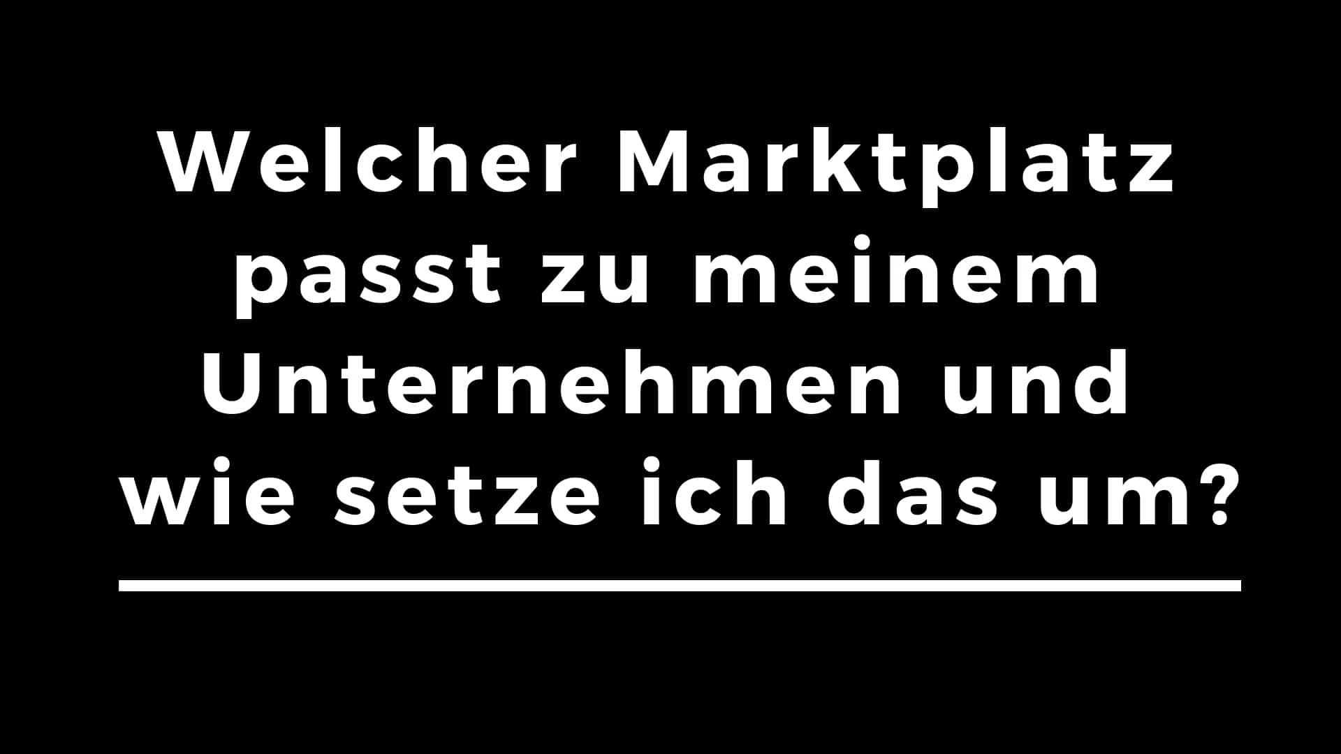 Workshop über Online Marktplätze zur Strategiefindung mit Thomas Neumesiter.